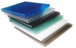 Chapa de Policarbonato Alveolar Azul  6mm 1,05 x 6,00 Metros