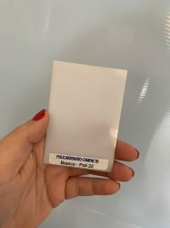 Chapa Policarbonato Compacto Branco Leitoso  2,05 x 3,00 mts x 3mm