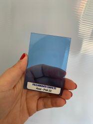Chapa de Policarbonato Compacta Azul 2,05 x 3,00 mts x 3mm