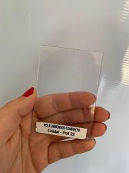 Chapa Policarbonato Compacta Cristal 1,00 x 2,05 mts x 3mm